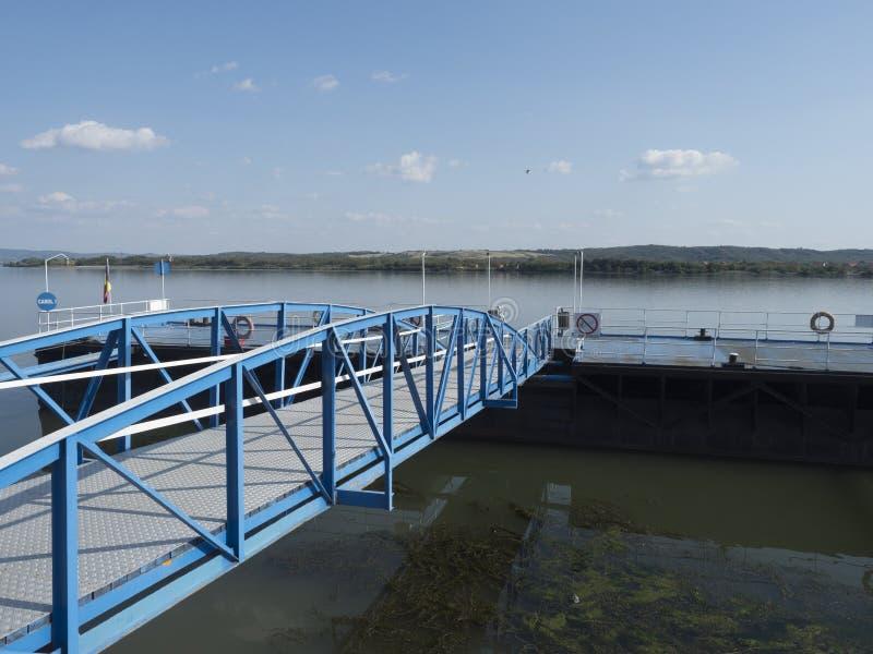 多瑙河口岸, Drobeta-Turnu Severin,罗马尼亚 库存图片