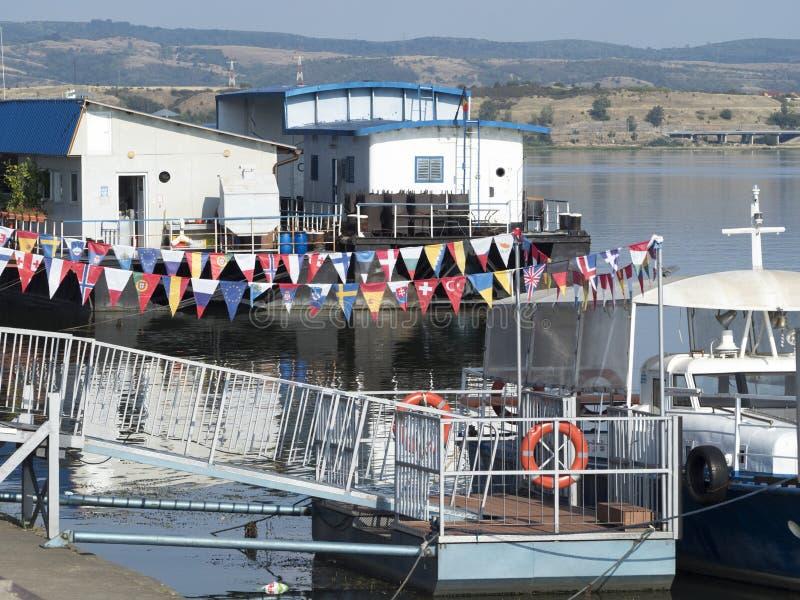 多瑙河口岸, Drobeta-Turnu Severin,罗马尼亚 免版税库存图片