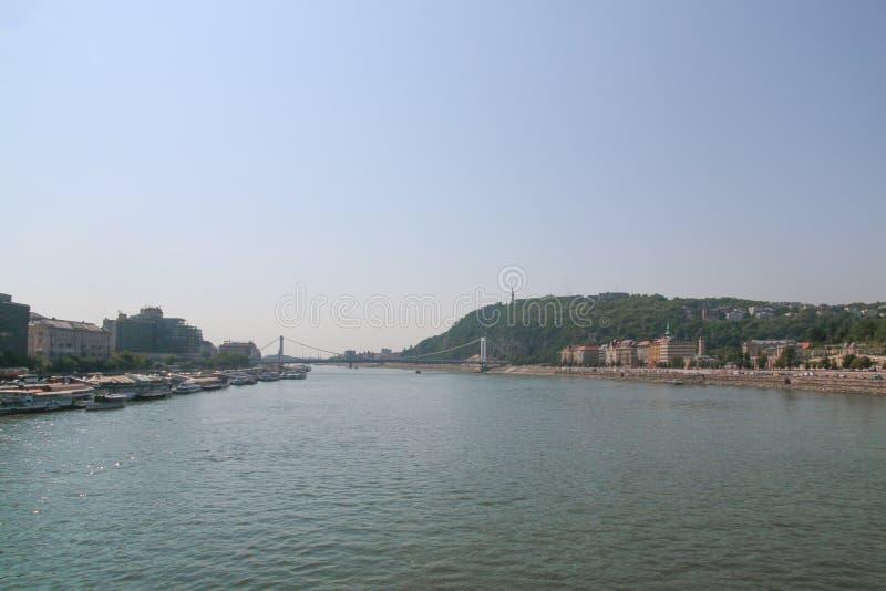 多瑙河在布达佩斯 图库摄影