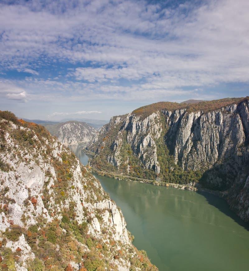多瑙河峡谷 免版税库存照片