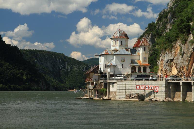 多瑙河狼吞虎咽罗马尼亚 免版税库存照片