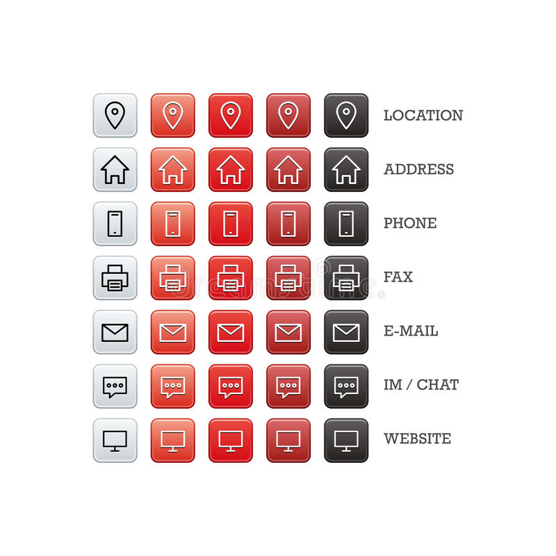 多用途名片套事务、财务和通信的网象 库存例证