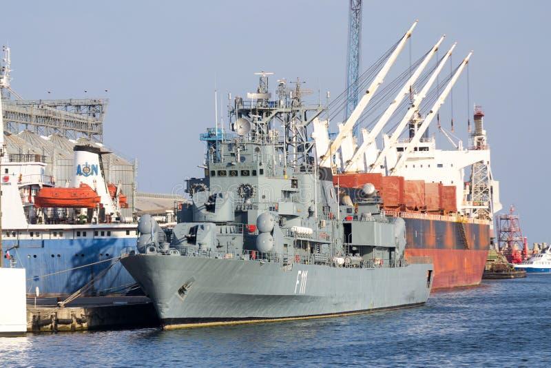 多用途大型驱逐舰Marasesti -罗马尼亚海军 免版税库存照片