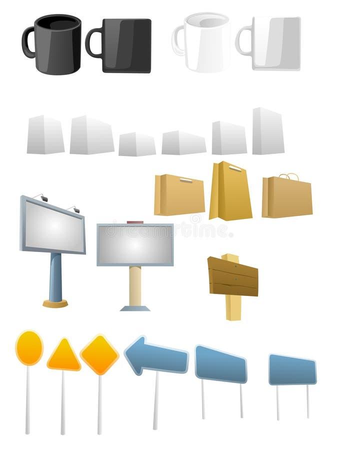 多用途的图标 库存例证
