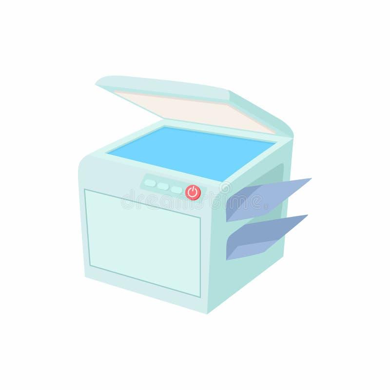 多用途设备、电传、影印机和扫描器象 向量例证