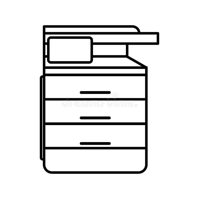 多用途设备、电传、影印机和扫描器象 库存例证