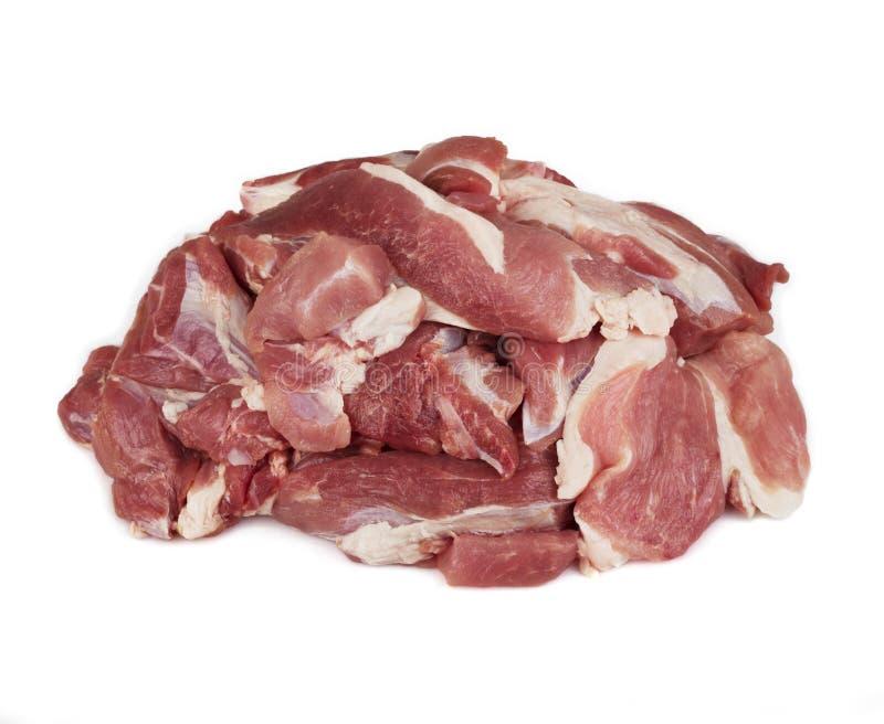 水多的切片未加工的牛肉 库存照片