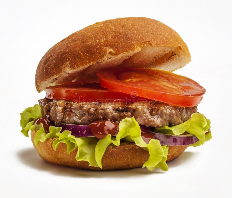 水多的汉堡 免版税库存图片