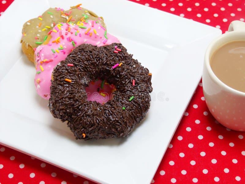 多福饼和牛奶咖啡 库存图片