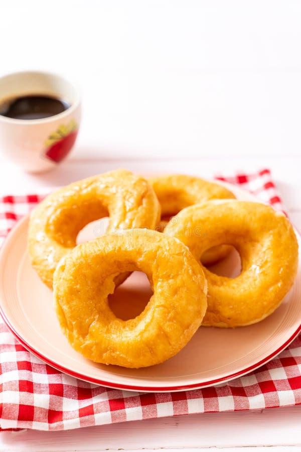 多福饼用无奶咖啡 免版税库存照片
