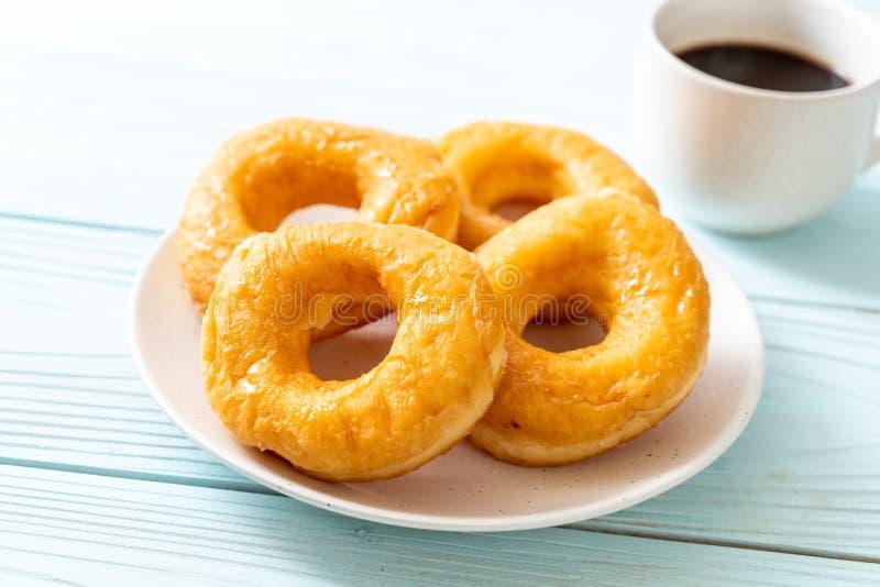 多福饼用无奶咖啡 库存图片