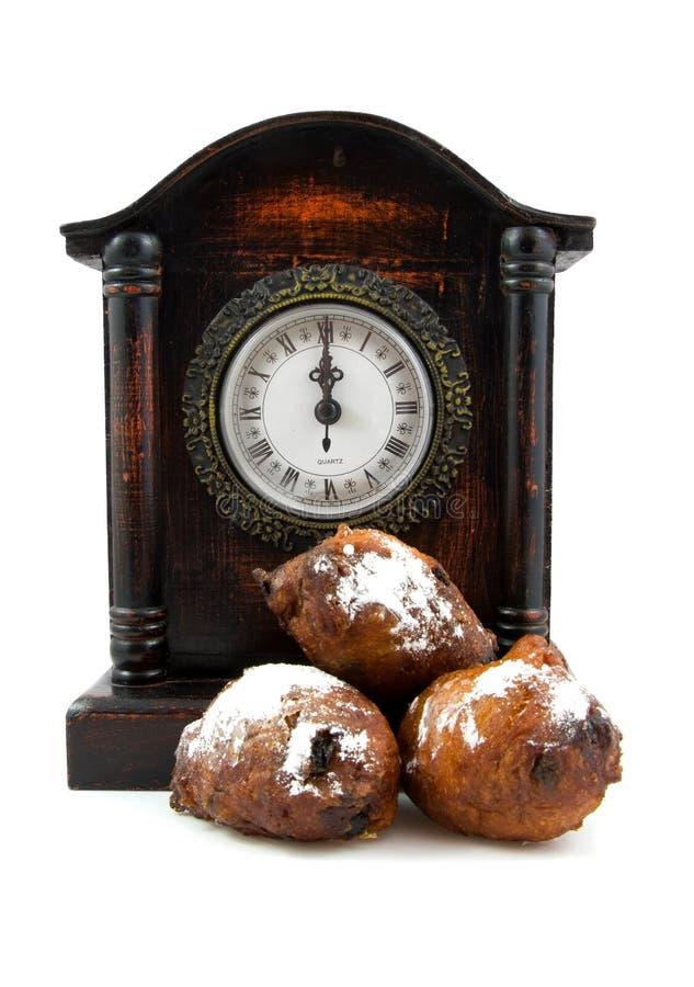 多福饼荷兰语oliebollen 库存图片