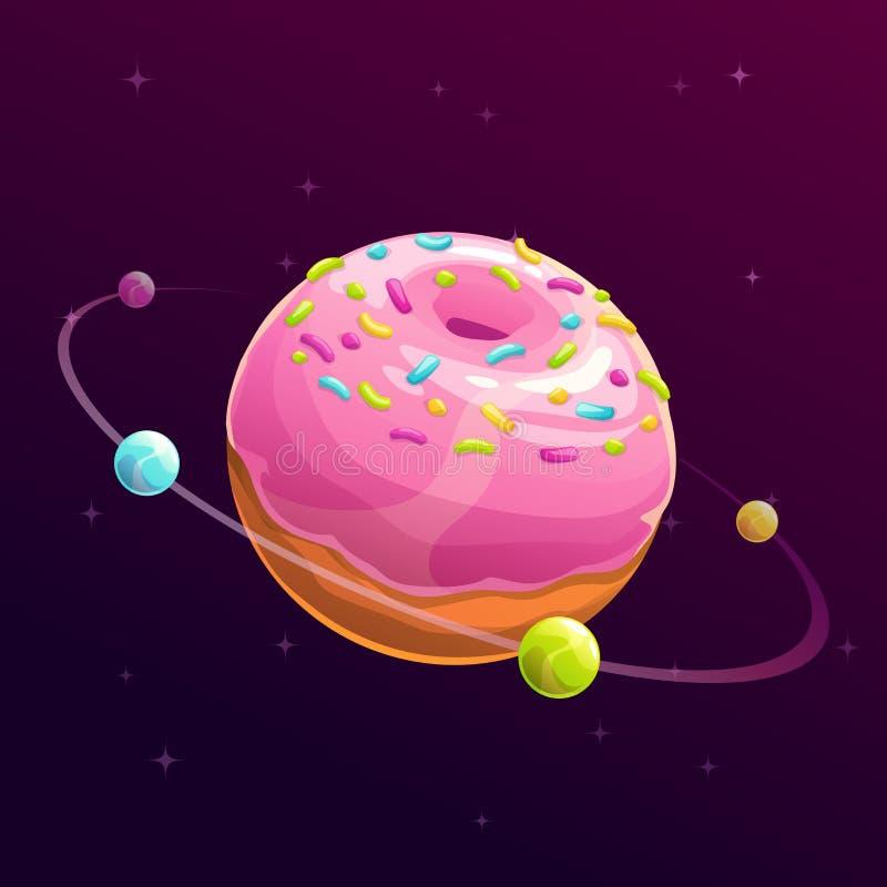 多福饼行星 幻想空间例证 库存例证