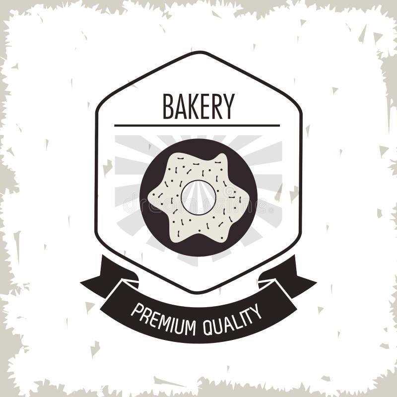 多福饼被烘烤的优质质量葡萄酒背景标签 皇族释放例证