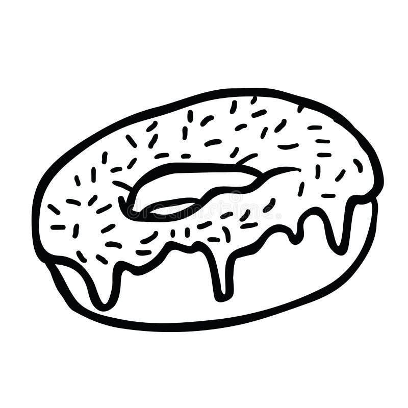 多福饼黑色 皇族释放例证