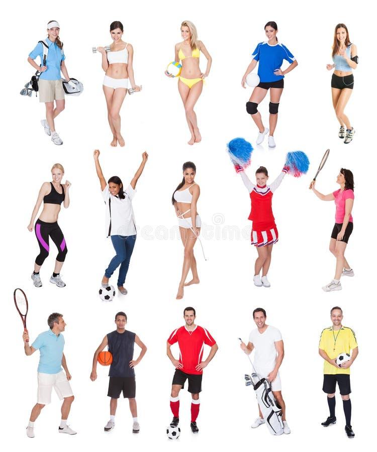 多种体育运动人员 库存照片