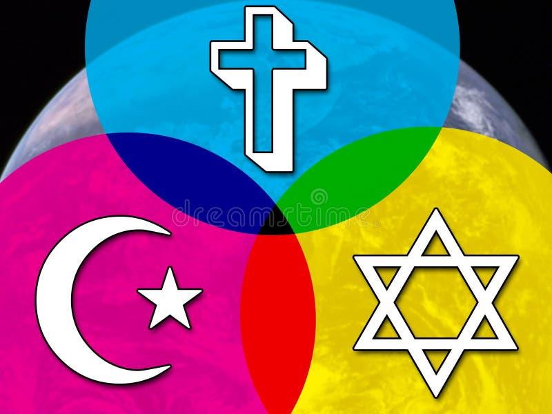 多种信仰的对话 皇族释放例证
