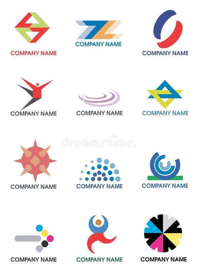 多种公司徽标 库存例证