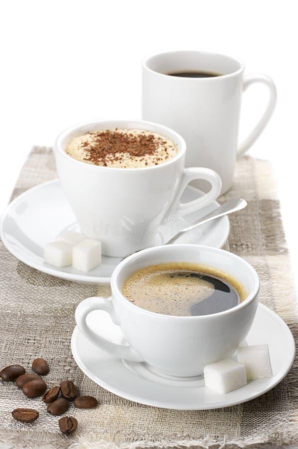 多种咖啡 免版税图库摄影