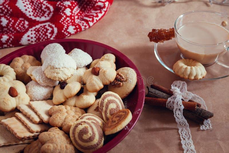 多种圣诞节曲奇饼 图库摄影