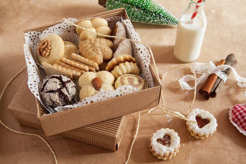 多种圣诞节曲奇饼 库存照片