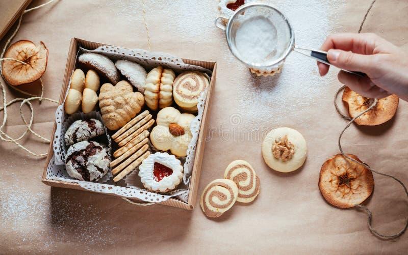 多种圣诞节曲奇饼 免版税图库摄影