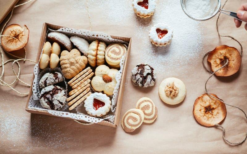 多种圣诞节曲奇饼 免版税库存照片