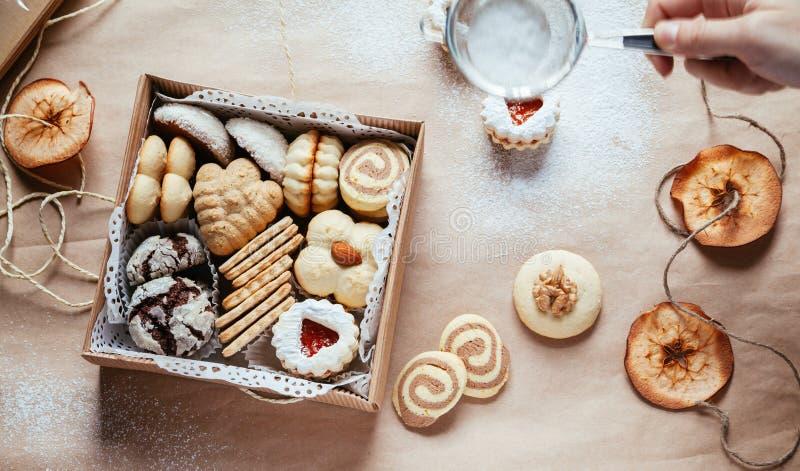 多种圣诞节曲奇饼 库存图片