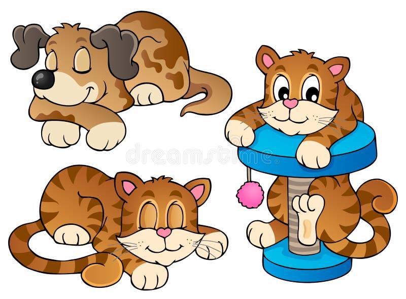 多种宠物收藏1 库存例证