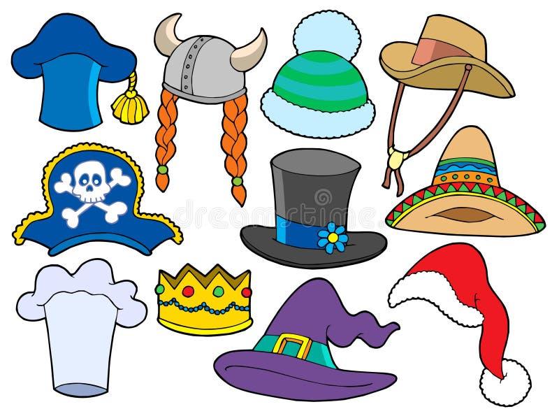 多种收集帽子 向量例证