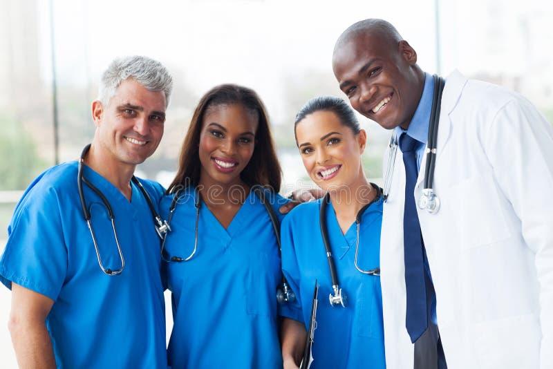 多种族医疗队 免版税库存图片