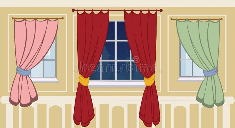 多种窗口构成的汇集 皇族释放例证
