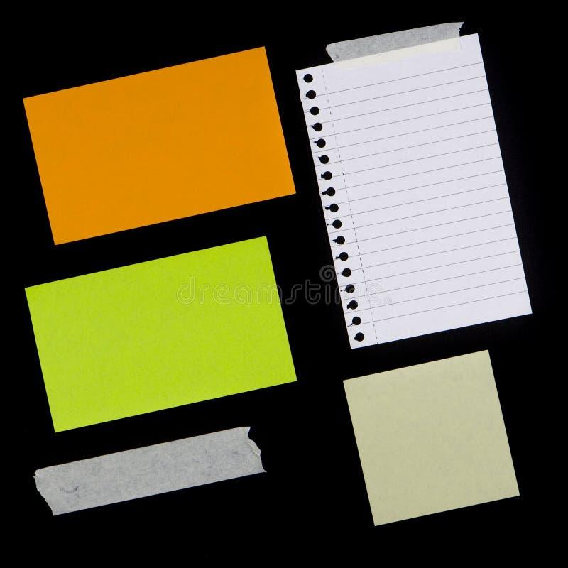 多种纸部分磁带 免版税库存照片