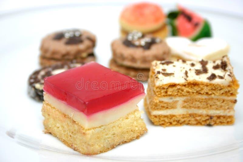 多种详细资料甜点 免版税库存照片
