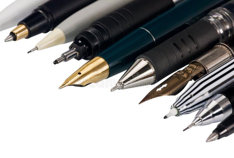 多种钢笔 免版税库存照片