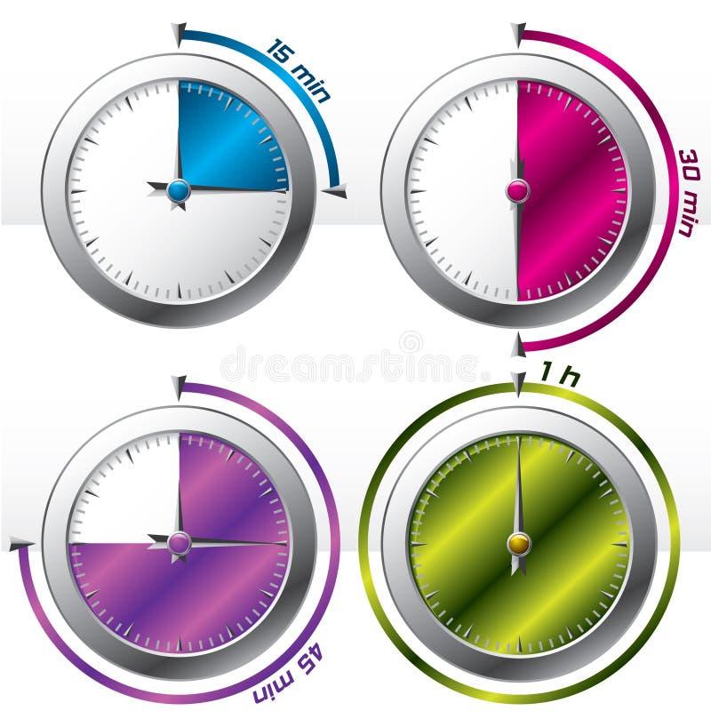 多种2个定时器 库存例证