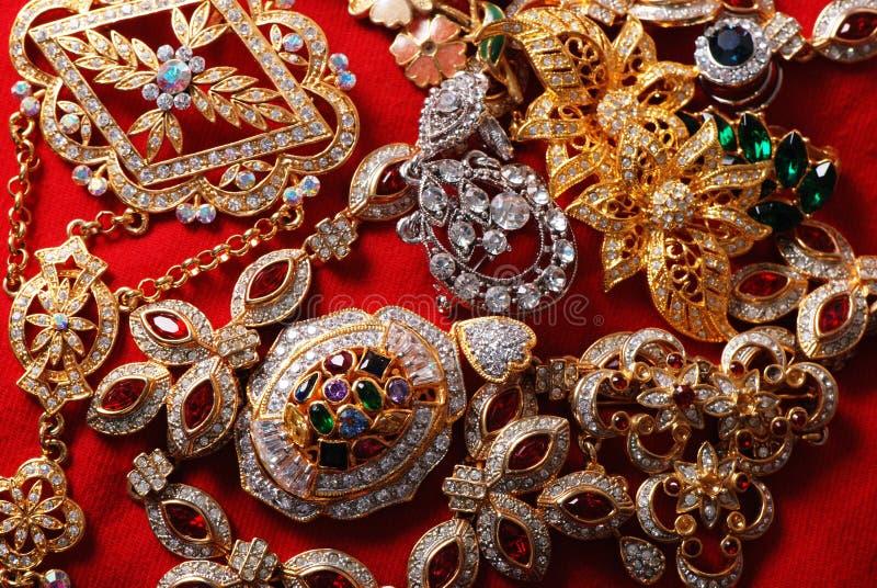 多种jeweleries 库存照片