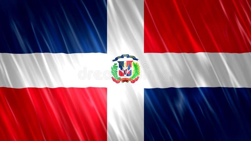 多米尼加共和国旗子 库存图片