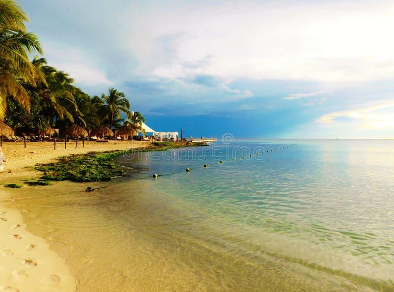 多米尼加共和国海滩,bayahibe,手段 免版税库存照片
