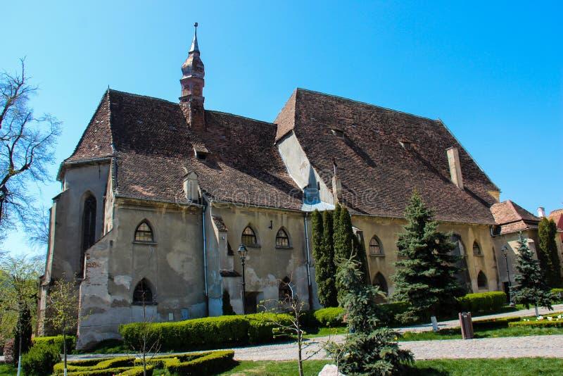 多米尼加共和国的修道院的教会在Sighisoara,罗马尼亚 免版税库存图片