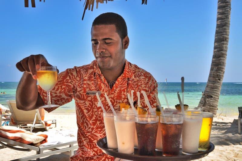 多米尼加共和国的好客和温暖 库存照片