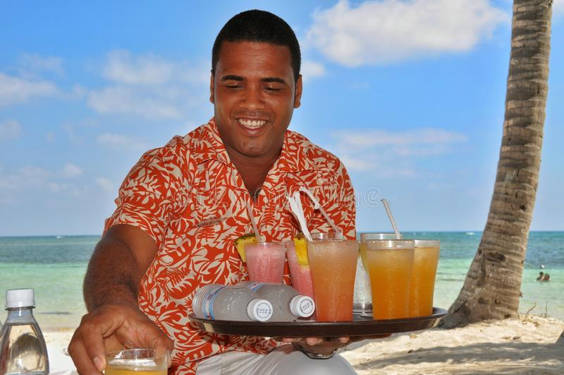 多米尼加共和国的好客翻译和热烈欢迎 免版税图库摄影