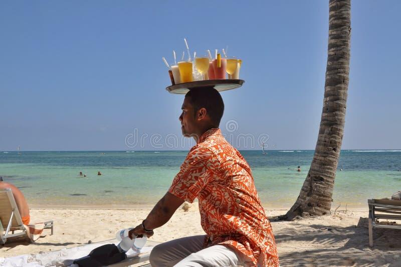 多米尼加共和国的好客翻译和诚恳 库存照片