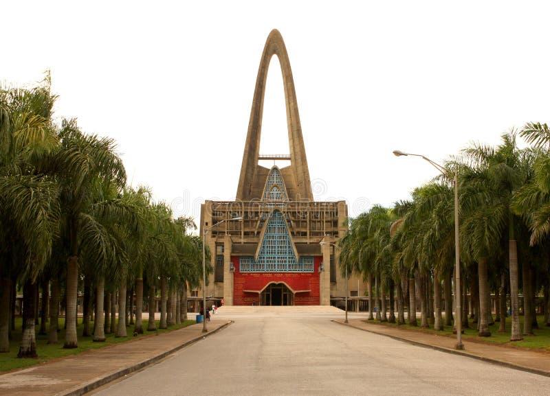 多米尼加共和国- Higuey的大教堂 免版税库存照片
