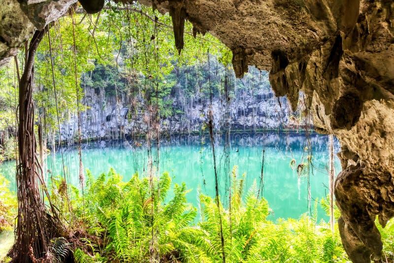 多米尼加圣多明各附近三眼洞 免版税图库摄影