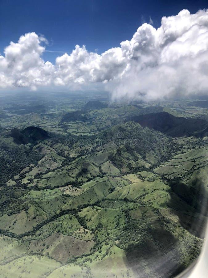 多米尼加的山 免版税库存照片