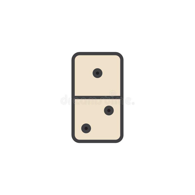 多米诺比赛被填装的概述象 向量例证