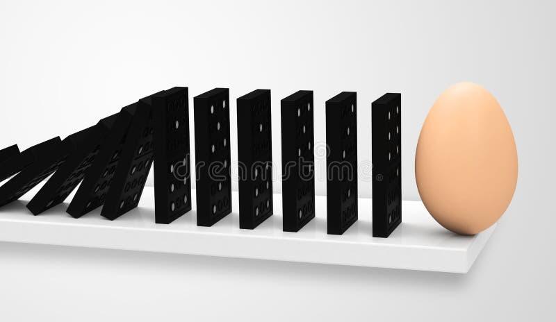 多米诺用鸡蛋 库存例证