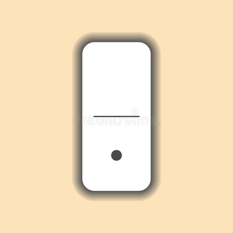 多米诺白色 并且零的背景 库存例证