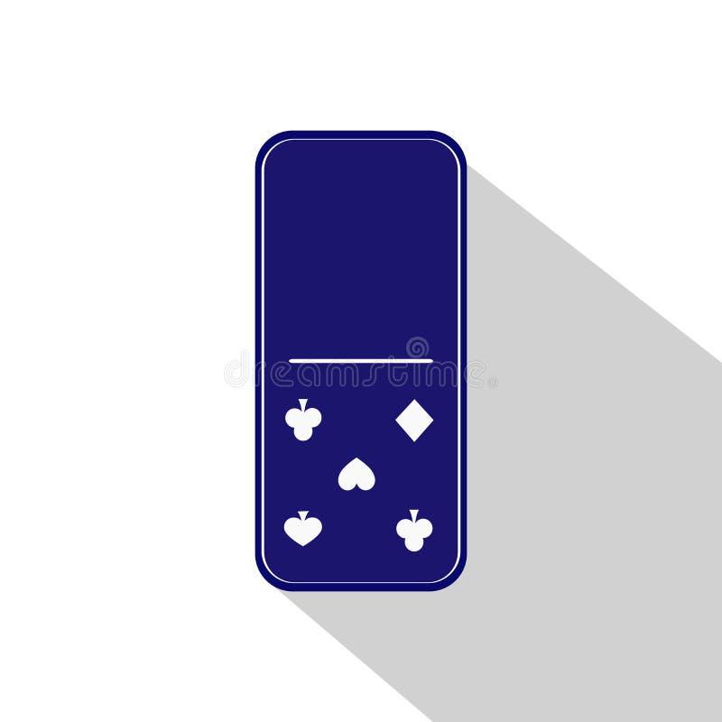 多米诺象例证分类了零-五 库存例证